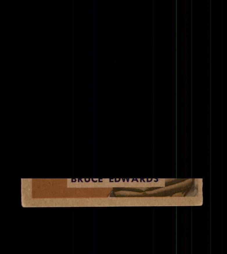 1949 Bowman Baseball #206 Bruce Edwards (Dodgers) STARX 4 VG/EX (CS22328)