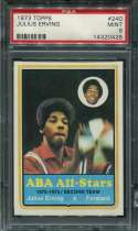 1973 Topps Basketball #240 Julius Erving PSA 9  MINT P14320428