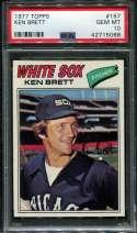 1977 Topps Baseball #157 Ken Brett PSA 10 GEM MT  P42715068