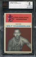 1962 Fleer Basketball #008 Wilt Chamberlain BVG 5 EX  B7107591
