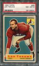 1956 Topps Football #046 Len Teeuws RC SP PSA 8 NM/MT  P9109900