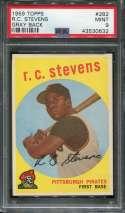 1959 Topps Baseball #282 R.C. Stevens PSA 9 MINT  P43530632