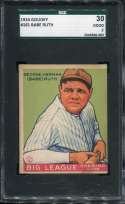 1933 Goudey Baseball #181 Babe Ruth RC SGC 2 Good  S2009586-003