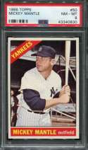 1966 Topps Baseball #050 Mickey Mantle DP PSA 8 NM/MT  P43340830