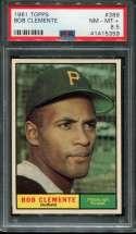 1961 Topps Baseball #388 Roberto Clemente PSA 8.5 NM/MT+  P41415359
