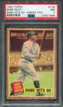 1962 Topps Baseball #139 Babe Ruth Story PSA 7 NM  P27871886