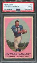 1958 Topps Football #007 Howard Cassady PSA 9 MINT  P45030019