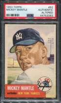 1953 Topps Baseball #082 Mickey Mantle STARX 0 Authentic Altered P44752082