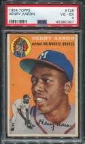 1956 Topps Baseball #128 Hank Aaron RC STARX 4 VG/EX  P45380387