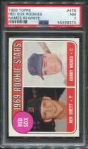 1969 Topps Baseball #476 K.Brett RC/G.Moses PSA 7 NM  P45499375