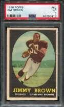 1958 Topps Football #062 Jim Brown RC PSA 3 VG  P46296419