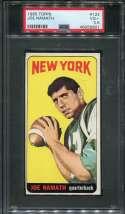 1965 Topps Football #122 Joe Namath RC SP PSA 3.5 VG+  P46056801