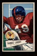 1952 Bowman Large Football #142 Tom Landry STARX 6 EX/MT (CS24014)