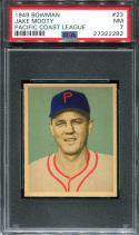 1949 Bowman PCL Baseball #023 Jake Mooty  PSA 7  NM (P27322282)